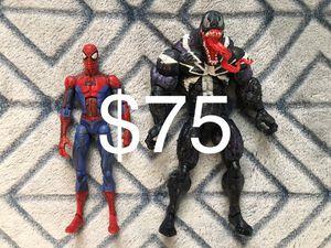 Marvel Legends lot SpiderMan & Venom for Sale in Wichita, KS