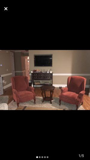 2 recliners some wear on the arms but comfortable and functional for Sale in Matthews, NC