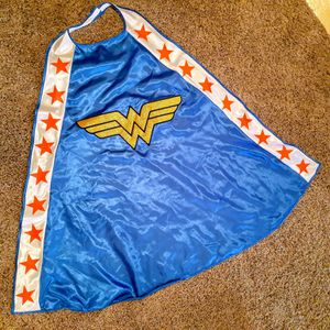 Wonder Woman blue cape. The WW is an embroidered piece . Like new. Nice costume accessory for Sale in El Paso, TX