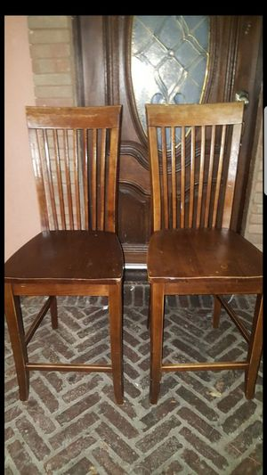 Two tall wooden Chairs good for DIY for Sale in Paramount, CA
