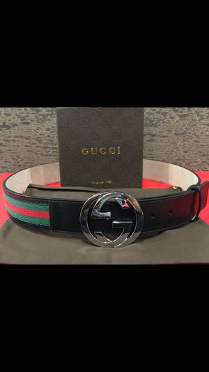 Gucci Classic Black Webbed Belt *Authentic* for Sale in Queens, NY