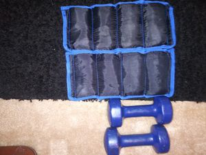 Walking weights 2 8lb ankle weights and two 8lb dumbbells burn extra calories and build lean muscle while you walk. for Sale in Davie, FL