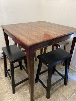 Kitchen Table with 4 Stools for Sale in Tacoma, WA
