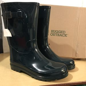 Rugged Outback Green Rubber Boots Size 12 for Sale in Cherryville, NC