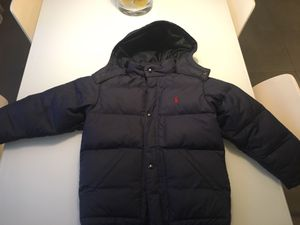Polo puff jacket with hoodie. Size 7 for Sale in Aventura, FL
