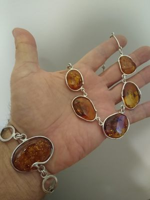 Real Amber set in Sterling silver (set) for Sale in New York, NY