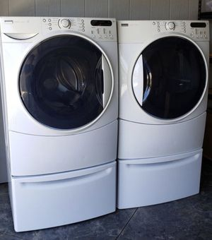 KENMORE ELITE WASHER AND DRYER SET WITH PEDESTALS for Sale in San Diego, CA