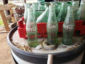 34 coke bottles with crate for Sale in East Bend, NC