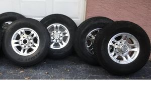 ST235 80 R16 tires and rims set 8 lug trailer tires for Sale in Orlando, FL