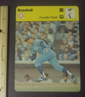 1979 Sportscaster Freddie Patek Kansas City Royals Sport Photo Large Over-sized Baseball Card HTF Collectible Vintage Italy for Sale in Salem, OH