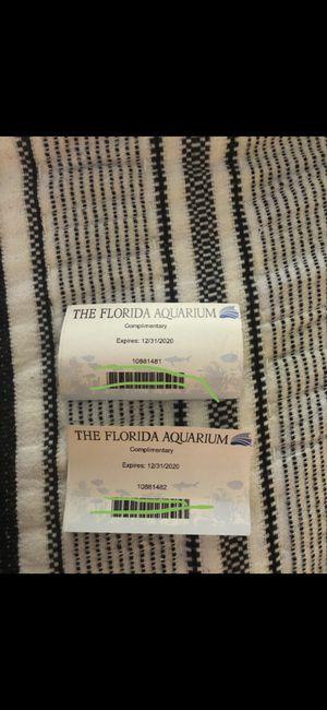Florida aquarium tickets for Sale in Tampa, FL
