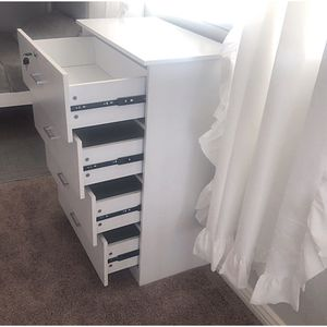 New!! Dresser, chest, wardrobe, 4 drawer dresser, storage unit, organizer, bedroom furniture , white, made of wood, dresser w lock for Sale in Phoenix, AZ