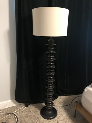 """Beautiful floor lamp - has a art deco feel. Has a cool """"gold"""" trim on each disk for Sale in Inglewood, CA"""