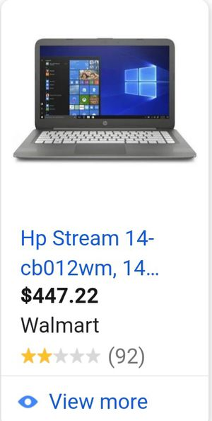 New laptop selling for 310$ for Sale in Homestead, FL