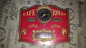 "Desk clock ""CAFE ROUGE"" Calender,day,time etc... for Sale in Las Vegas, NV"