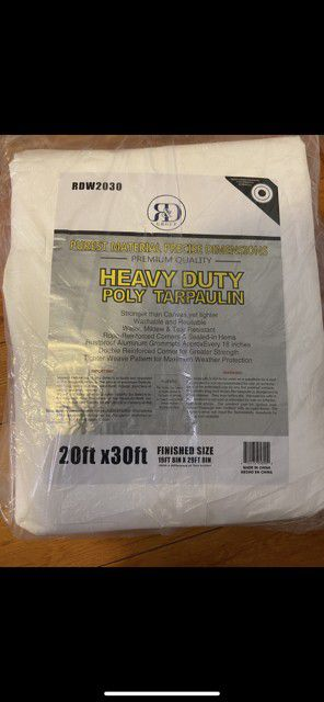 20x30ft. Heavy duty industrial white tarp new $65.00 for Sale in Los Angeles, CA