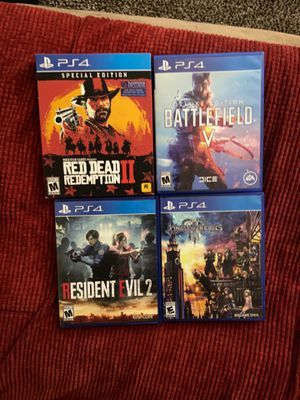PS4 games. Top titles. Beat all of the them. 25$ each for Sale in Bingham Canyon, UT