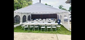 Party tents chairs and tables for Sale in Duncanville, TX