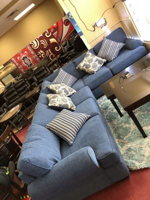 Furniture of sectional El Rio furniture finance available down payment $39 1456 belt line rd suite 121 Garland tx 75044 Open from 9:30-8:30 for Sale in Richardson, TX