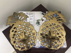 Vintage Brass Pineapple Sconces Pair for Sale in St. Petersburg, FL