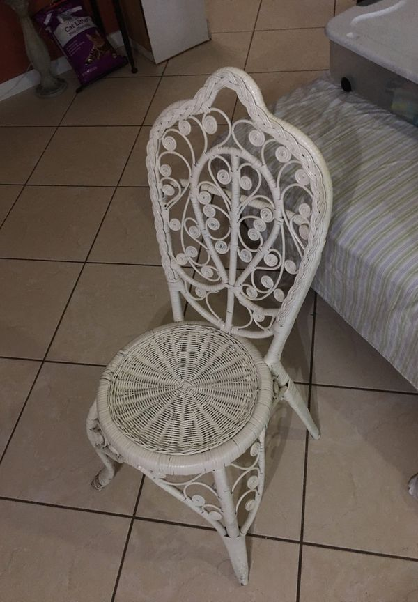 Cute little wicker chair for decoration