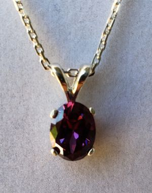 Oval Amethyst Silver Necklace for Sale in Justin, TX