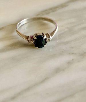 Antique Edwardian Black Diamond Ring Stamped 800 Sz 7 for Sale in Daniel Island, SC