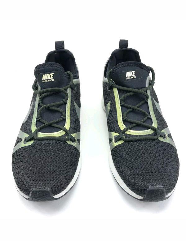 Nike Duel Racer Shoes Men Size 9 MSRP $140.00 Black Olive White 918228 012.