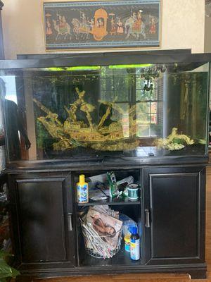 90 gallon fish tank full setup!! for Sale in Novi, MI