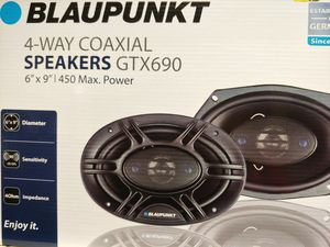 Car speakers : Blauounkt 6×9 4 way 450 watts car speakers for Sale in Bell Gardens, CA