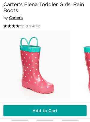 Toddler Carters rain boots! NEW!! for Sale in Elk Grove, CA