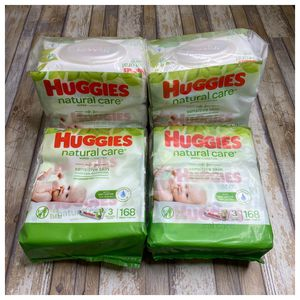Huggies Natural Care Disposable Wipes 12 packs of 56 wipes (672 total wipes) for Sale in Plano, TX