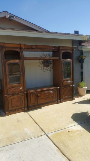 Solid wood entertainment center for Sale in Glendale, AZ