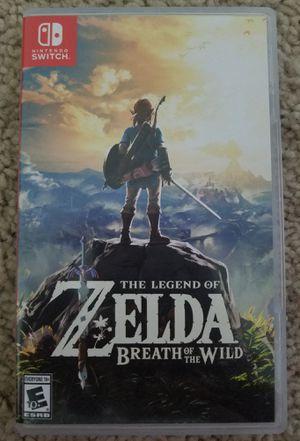 Nintendo Switch Zelda Breath of the Wild for Sale in Chantilly, VA