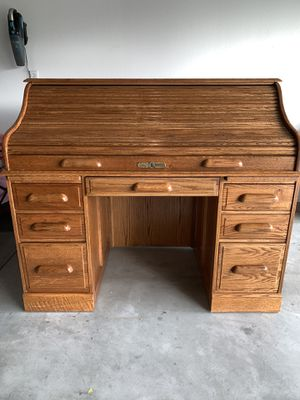 Oak Roll Top Desk for Sale in Oroville, CA