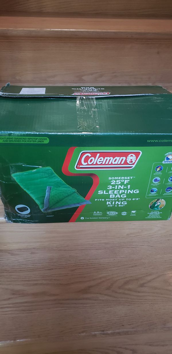 Coleman Somerest 25° F ( 3- in - 1)Sleeping bag( new)