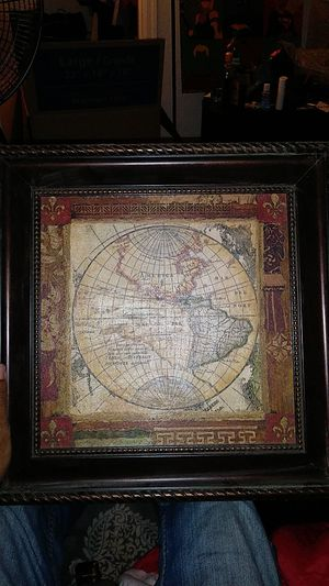 """16"""" x16"""" Nautical map painting for Sale in Mesa, AZ"""