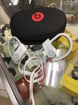 Beats by dr Dre Powerbeats 2 in-ear wireless Bluetooth headphones - white for Sale in Orlando, FL
