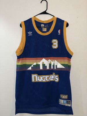 Size Large Men's adidas Denver Nuggets Allen Iverson #3 jersey for Sale in Lewisville, TX