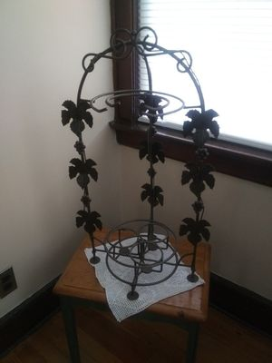 Wrought iron wine n glass holder for Sale in Belleville, NJ