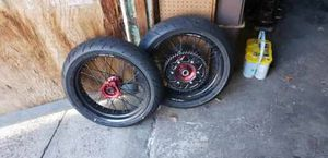 Street legal dirt bike rims and tires for Sale in Philadelphia, PA