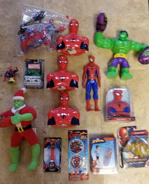 14 Piece Spiderman And Hulk Figure Pre-Owned And New for Sale in Rosedale, MD