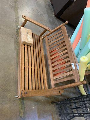 Maple wood porch swing for Sale in Phoenix, AZ