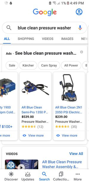 Blue clean pressure washer for Sale in Tracy, CA