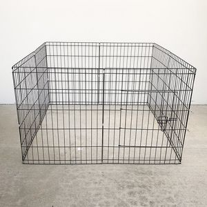 """$35 (new in box) 8-panel dog playpen, each panel 30"""" tall x 24"""" wide metal pet gate exercise fence crate kennel for Sale in Pico Rivera, CA"""