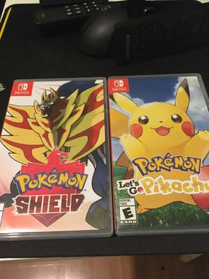 Pokemon Shield and Lets Go Pikachu for Sale in Los Angeles, CA