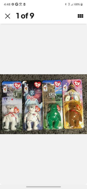 Ty beanie babies..new, in packaging. Some damage to packaging from storage Never been out of packs Sold as/is .Singles $120,four set $ 399 for Sale in Williamston, SC