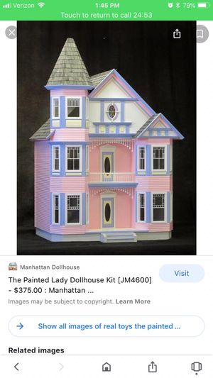 "The Painted Lady Doll House Kit 30""W x 22""D x 42 3/4""H 7 Huge Rooms for Sale in Huntington Beach, CA"