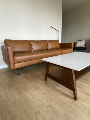West Elm leather couch and table. for Sale in Austin, TX