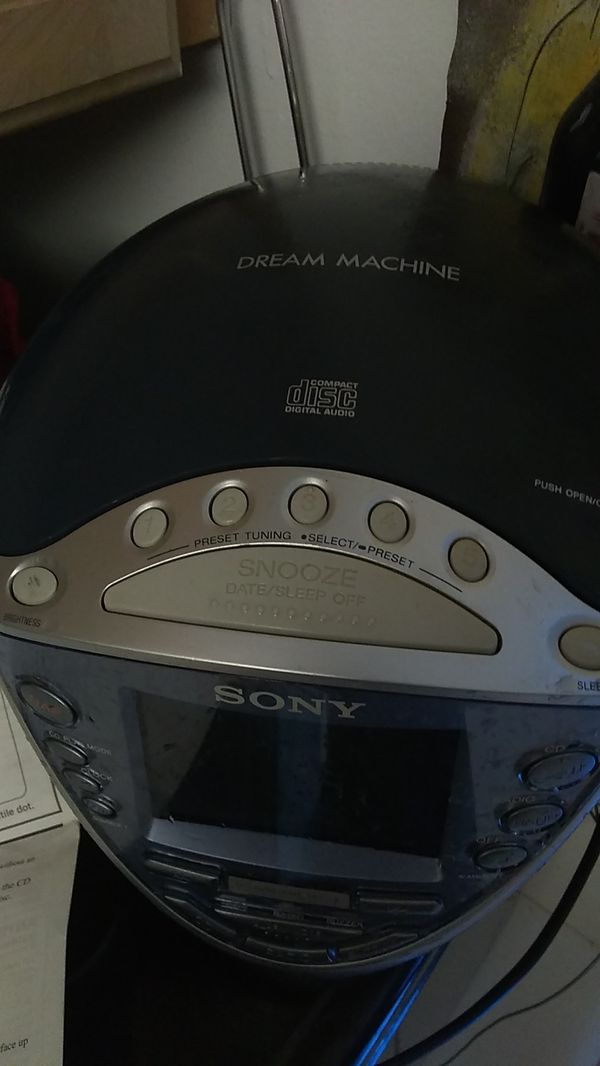 Sony dream machine CD player alarm radio